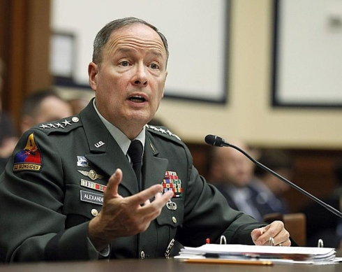U.S. Army General Keith B. Alexander is in charge of CYBERCOM.  General Alexander is also the present Director of the National Security Agency (NSA) and Central Security Service