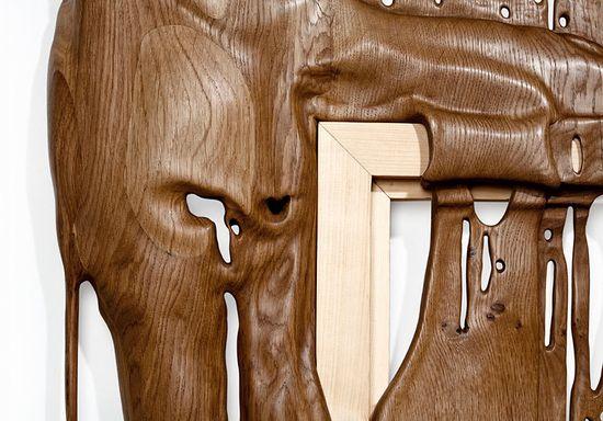 Bonsoir Paris's Duramen 'Heartwood' hand-carved wooden frames 2