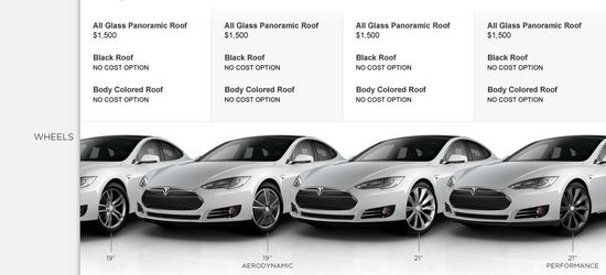 Tesla Motors Model S Wheels - Model S and Model S Signature