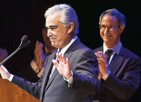 Antonio Perez, Kodak chairman and CEO, announcing his Kodak's $10 million committment to renovating Eastman Theatre at the University of Rochester in Apr 2008