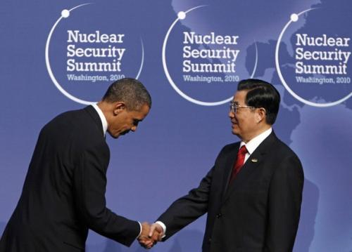 President Obama bows to Chinese President Hu Jintao at Nuclear Security Summit in April 2010, afterall they are our bank