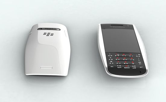 BlackBerry Urraco Concept phone in white front and back