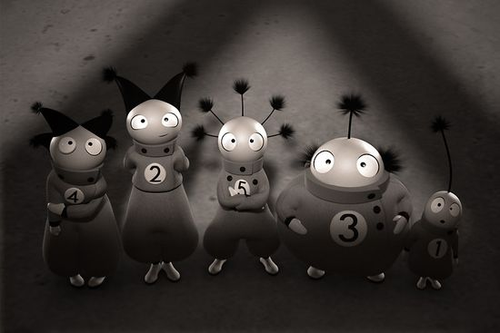 The Numberlys iPad app characters 1