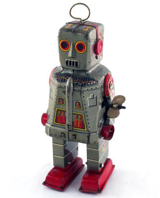 1950's metallic windup robot