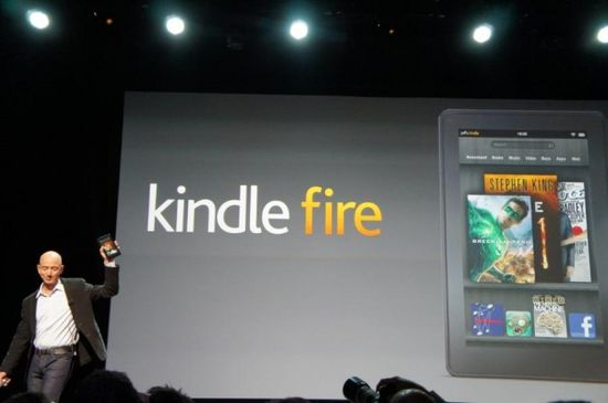 Amazon CEO Jeff Bezos introduces the Kindle Fire table