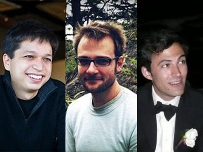 Printerest co-founders (l-to-r) Ben Silberman, Evan Sharp and Paul Sciarra
