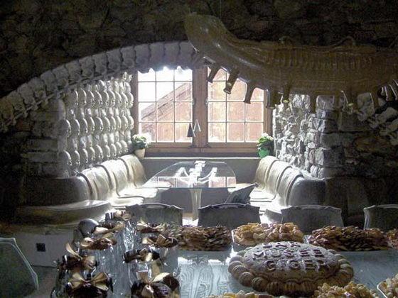 Interior of the HR Giger 'Alien' Bar in the HR GIger Museum in Gruyeres, Switzerland 5