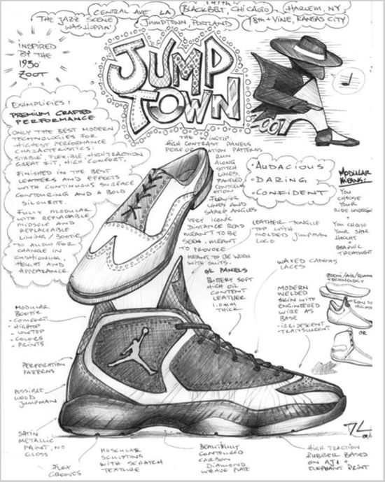 2012 Air Jordan brogue wingtips and zoot suit was the catalyst for the new Nike Jordan shoes