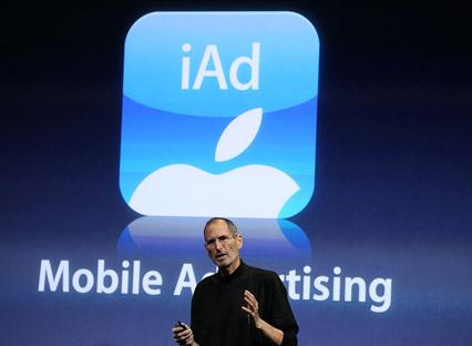 Apple CEO Steve Jobs unveiled the iAd Mobile Advertising Platform on April 8, 2010
