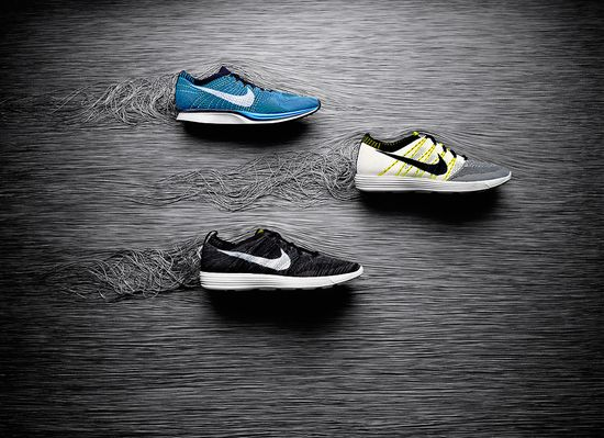 Nike Unveils the Flyknit shoe. A big new paradigm. Shoes knit like socks 1
