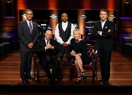 'Shark Tank' cast, L-to-R, Kevin Harrington (infomercials), Kevin O'Leary (venture capitalist), Daymond John (fashion), Barbara Corcoran (real estate) and Robert Herjavec (technology)