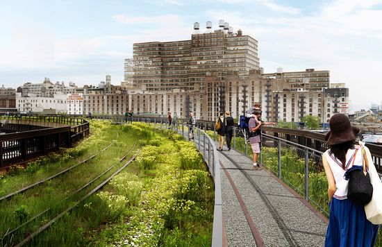 High Line at the Rail Yard - Will include a walkway and interim park 2