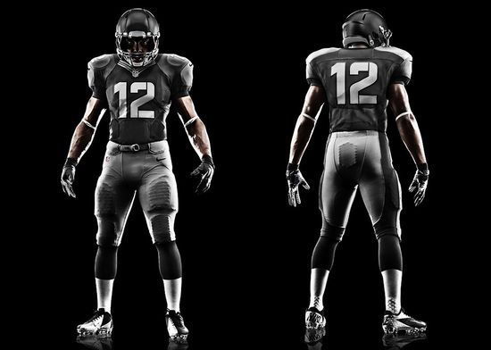 Nike - Front and rear view of NFL professional football uniform