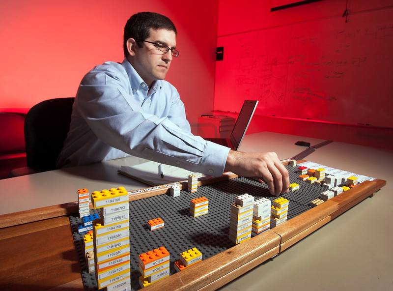 Dennis Pastor, Executive Director of Performance Excellence for WellStar Health Systems uses Lego chips for performance data visualization 1