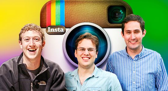 Facebook CEO Mark Zuckerberg, Facebook CTO Adam D'Angelo and Instagram CEO and Co-Founder Kevin Systrom