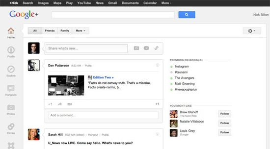 Google+'s new makeover is simpler, cleaner and much easier to navigate