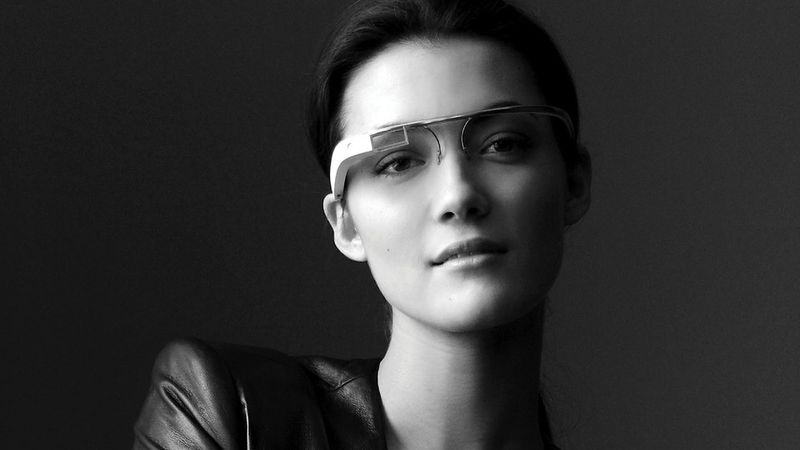 Google's augmented reality headsup display (HUD) glasses
