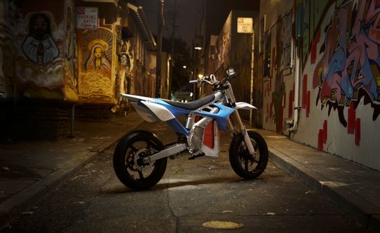 The BRD RedShift all-electric motorcycle kicks ass
