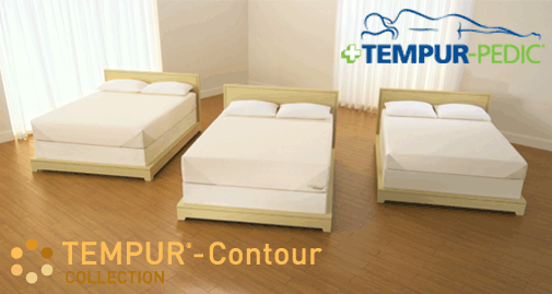 Tempur Pedic TEMPUR-Contour Collection for firm to medium-firm feel, comes in three models, Contour, Contour Signature and Contour Select