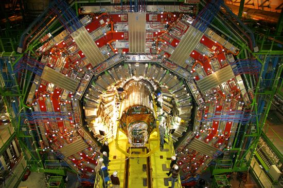 ATLAS, at 44 meters (144 feet) long by 25 meters (82 feet) in diameter, is the largest detector ever built for an accelerator-collider, and weighs in at 7,000 tonnes