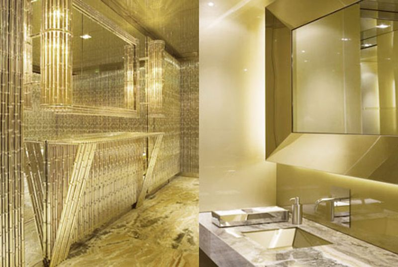 Dolce and Gabbana's Gold Room, Milan, Italy