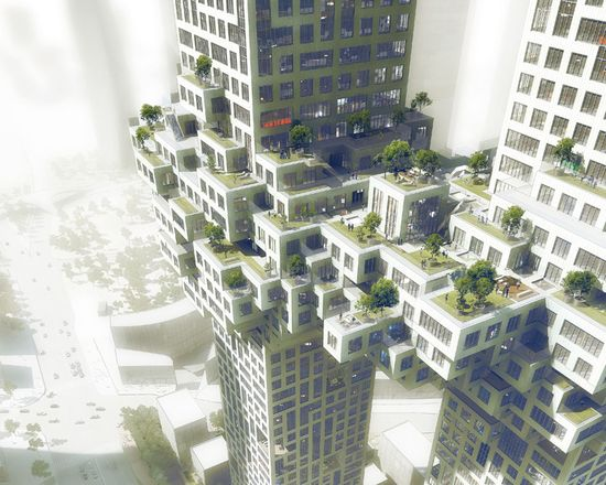 MVRDV '911' luxury residential towers 3