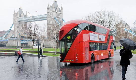 London futuristic double-decker bus 1
