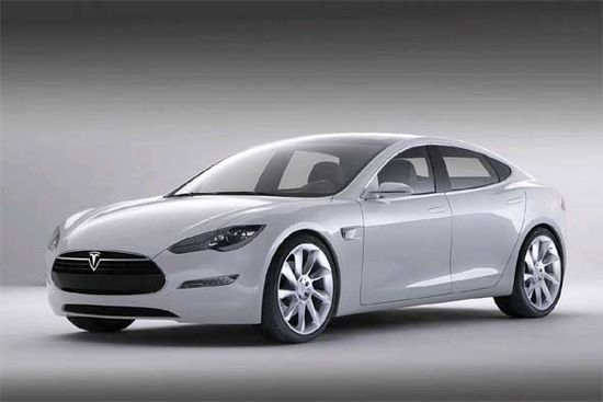 Tesla Motors Model S electric sedan for 2012
