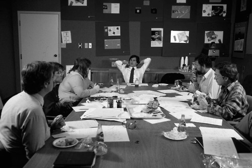 Apple co-founder Steve Jobs holds meeting with his product design team