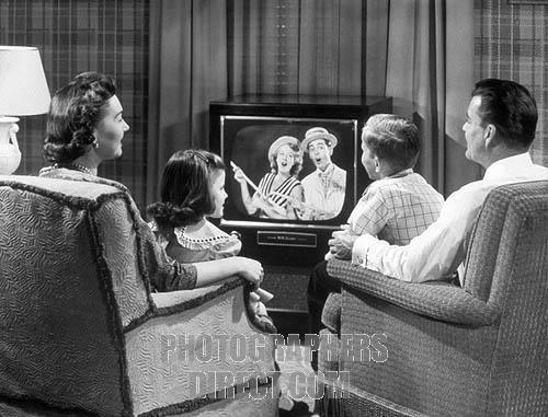 1950's U.S. family watching television