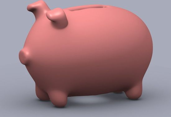 Piggy Bank created using a Makerbot 3D printer