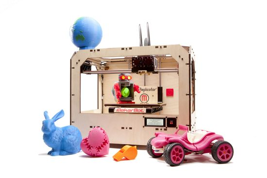 MakerBot Replicator™ the ultimate 3D printer for making bigger finished plastic products and prototypes