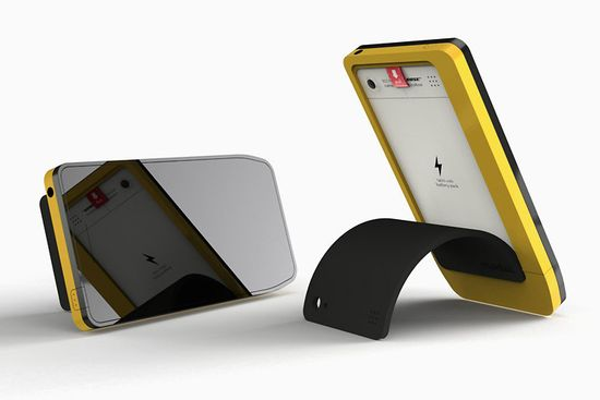 Modai concept smartphone, the phone with replaceable brains, back includes a peel-back cover that serves as a stand 3