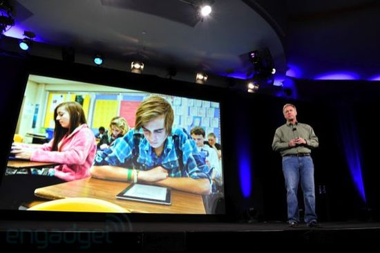 Phil Schiller, Apple Vice-President of Marketing announces Apple's plans to replace textbooks with the iPad and eBooks and remake school education as we know it