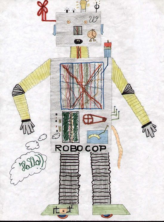 Kids robot drawing 7