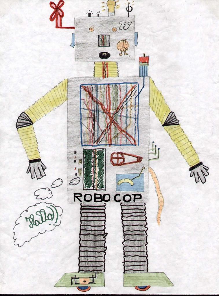 Kids robot drawing 7