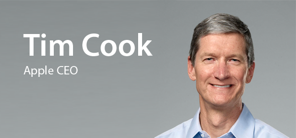 Apple CEO Tim Cook -- 'Talk Softly and Carry A Big Stick'