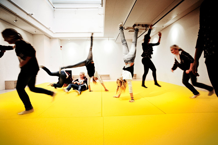 Vittra TelefonPlan School has a 'Dance Hall' where kids can play, dance, yell and express themselves physically by Swedish design firm Rosan Bosch