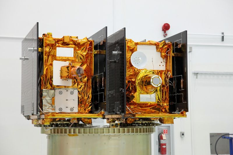 The twin Gravity Recovery and Interior Laboratory (GRAIL) spacecraft are mirror images of one another.