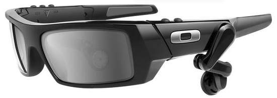 These Oakley Thumps sunglasses resemble Google's HUD glasses