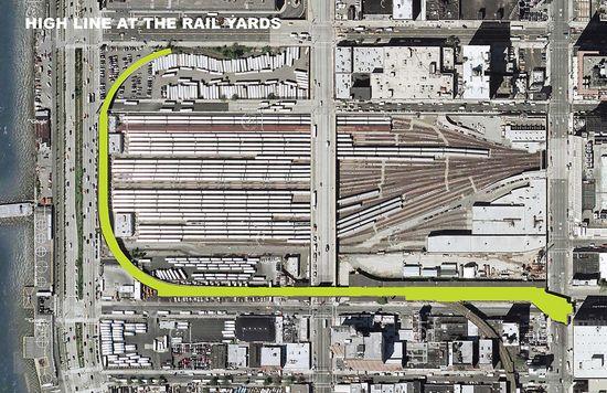High Line at the Rail Yards - Closeup view