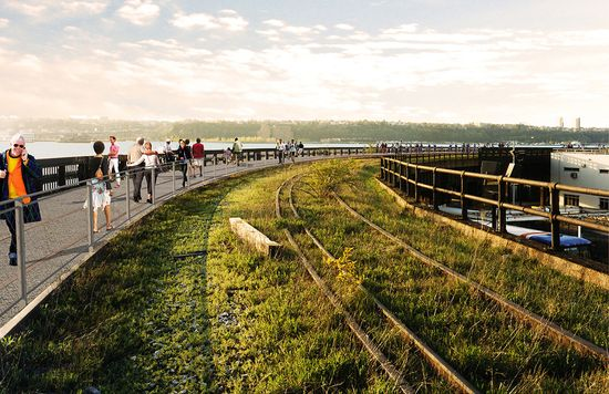 High Line at the Rail Yard - Will include a walkway and interim park