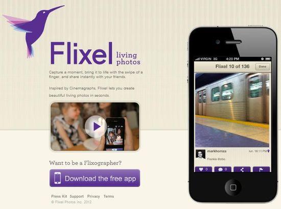 Flixel homepage