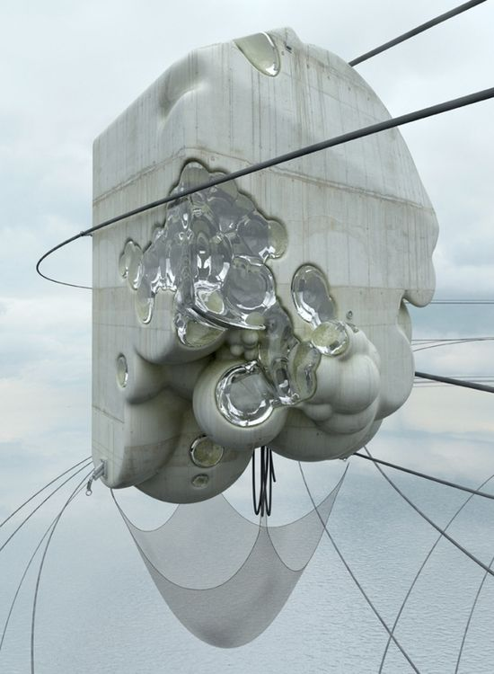 Concrete Misplots - Marginal architectures of the future by German designer Zeitguised - 1