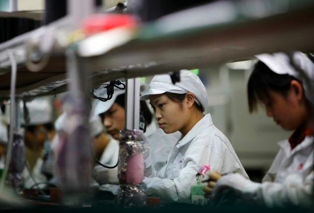Foxconn International plant assembly workers