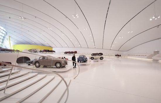 New Enzo Ferrari Museum looks like the hood of a hot sports car 8