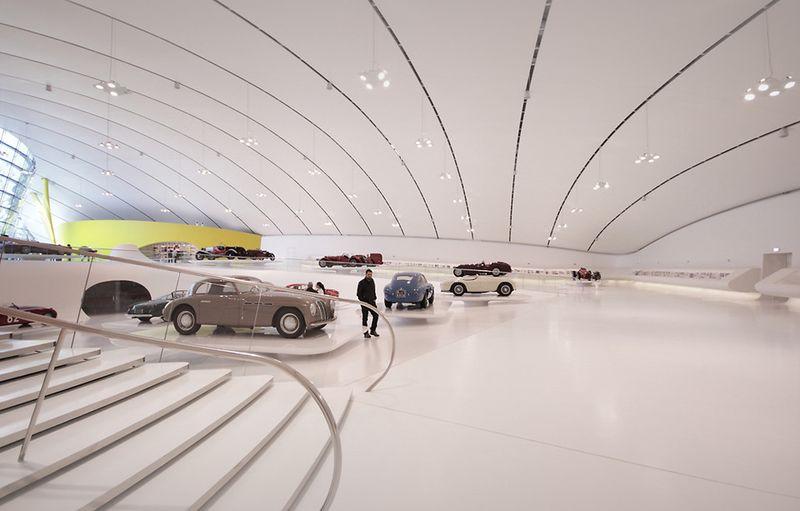 New Enzo Ferrari Museum looks like the hood of a hot sports car 8