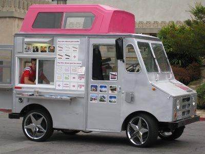 CoolHaus food trucks are smallish, but very stylist, and the food is gourmet class