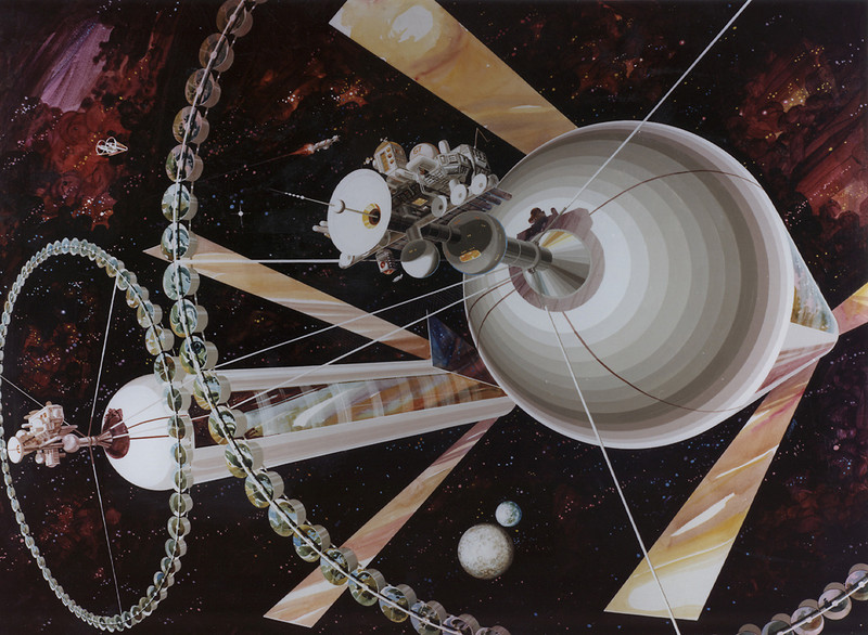NASA's Psychedelic Concepts From The 1970s - Huge mothership