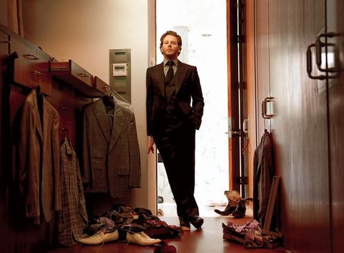 Sean Parker, co-founder of music file sharing site Napster, and Facebook's first President.  Parker introduced Mark Zuckerberg to Peter Thiel